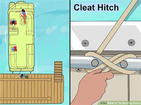 tie boat knots rope 5 ways to tie boating knots wikihow