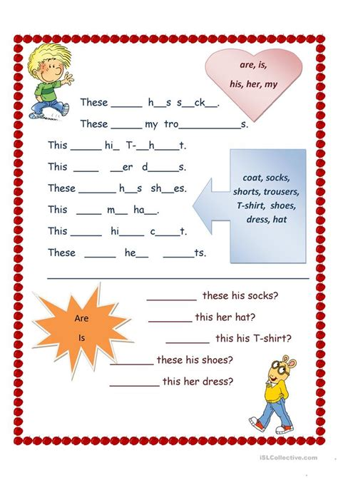 Or Printables Clothes This Is These Are My His Worksheet Free Esl Printable Worksheets Made By Teachers