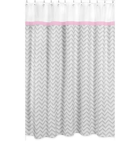 Pink And Gray Shower Curtain by Zig Zag Pink And Gray Chevron Shower Curtain Townhouse