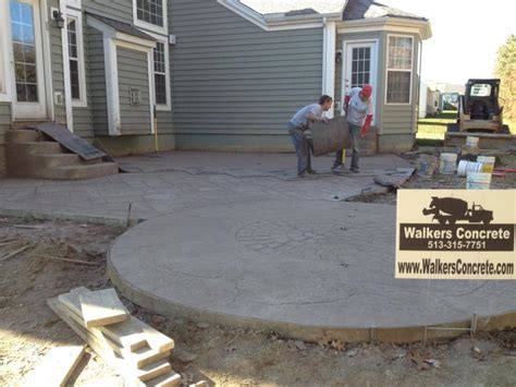 Pouring A Concrete Patio by Walkers Concrete Llc Sted Concrete Patio Start To