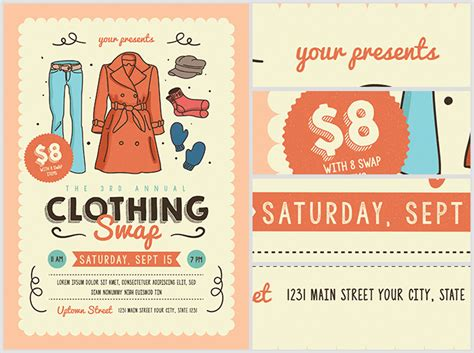 Community Clothing Swap Flyer Template Flyerheroes Free Clothing Store Flyer Templates