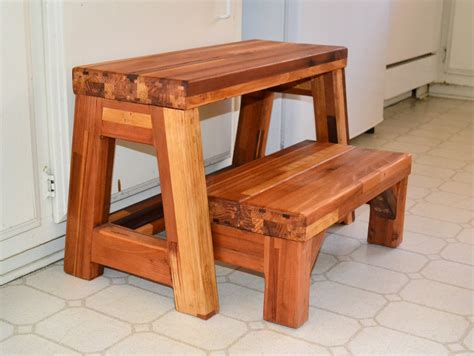 Step Stool Wood by Folding 2 Step Stool Wooden Step Stools Forever Redwood