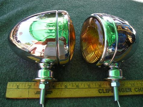 new pair of chrome vintage sell new pair of chrome vintage style dummy spot lights motorcycle in montclair california