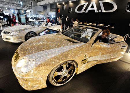 glitter car a mercedes studded with 300 000 swarovski crystals