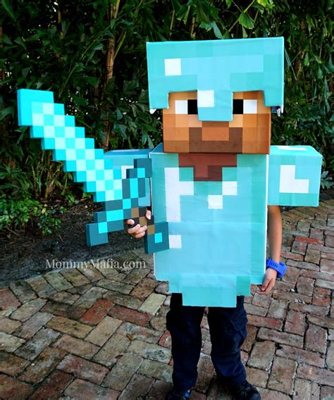 diy steve minecraft costume diy armor minecraft steve mommymafia