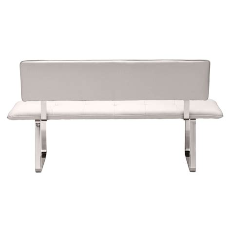 White Dining Bench With Back 28 Images Tufted Dining