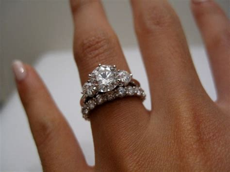 Wedding Bands With Stones by What Of Wedding Band For A 3 E Ring