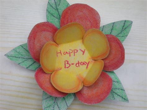 how to make a colourful flower birthday card