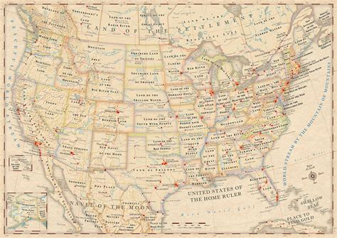 united states map with cities name the literal meanings of place names in the us the world