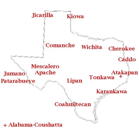 map of indian tribes in texas texas americans index page