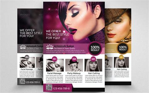 free templates for flyers hair salon 15 beauty salon flyer template psd ai and vector eps