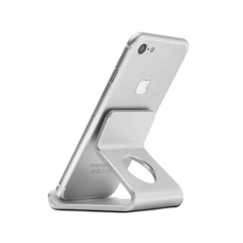 Mobile Phone Holder Stand Desk Aluminum Metal Desktop Iphone 5 Stand For Desk