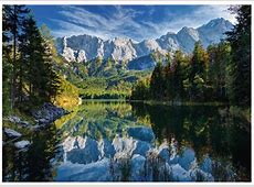 Puzzle Germany, Eibsee Lake Ravensburger-19367 1000 pieces ... Km Bayern
