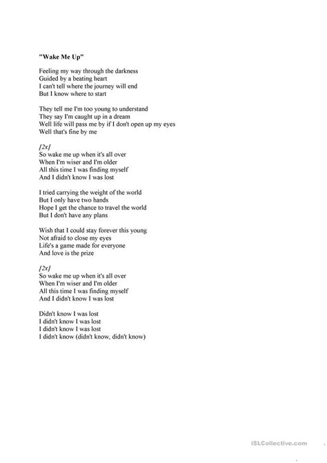 avicii me up testo me up song by avicii comparatives worksheet