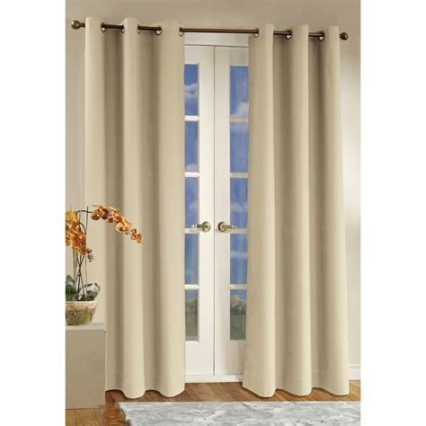 grommet top curtains for sliding glass doors thermalogic weathermate curtains 80x54 quot grommet top