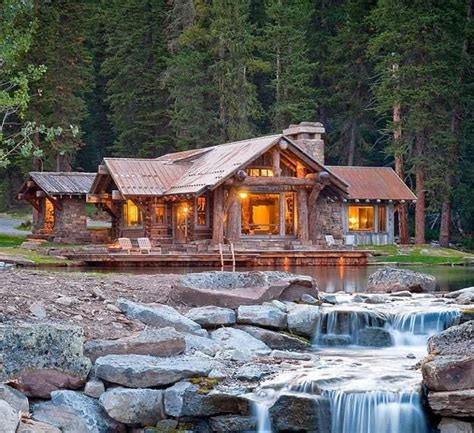 Idyllic Lakefront Country House Beautiful Log Homes Waterfront House Plans In Beautiful Columbia