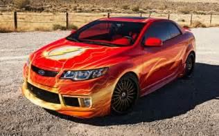 Dc Kia Kia And Dc Comics Unveil Flash Themed Car At Sema Trade
