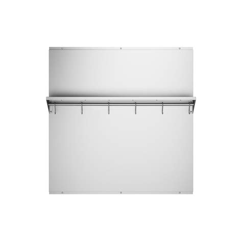 ancona 30 in x 30 75 in stainless steel backsplash with