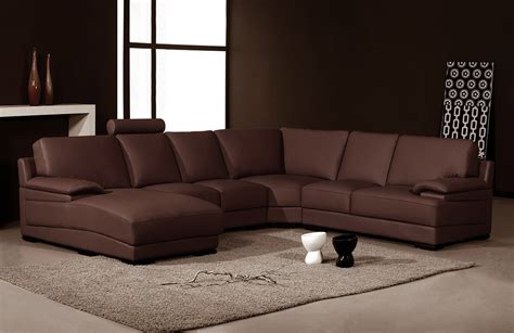 Orange Modern Sofa 2227 Contemporary Orange Leather Sectional Sofa Modern Sofas Living Room