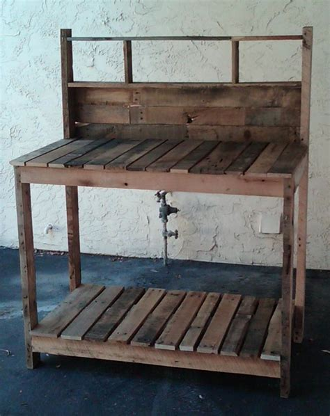 pallet outdoor bench design pallet pallet potting bench potting benches and