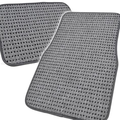 Woven Floor Mats by Gray Heavy Duty Woven Berber Carpet Car Floor Mats Fit 4 Pcs