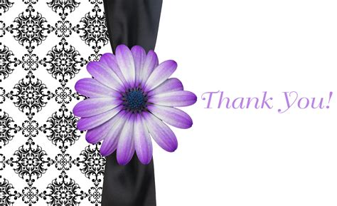 thank you card template flowers thank you template cyberuse