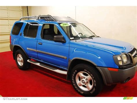2002 shock blue nissan xterra xe v6 68664647 gtcarlot car color galleries