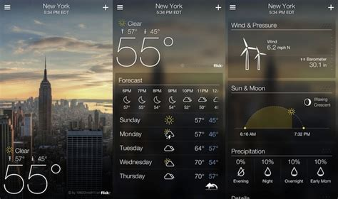 android weather yahoo releases weather app for iphone mail for and android tablets technology news