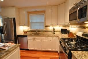 led backsplashes kitchen remodel white cabinets tile backsplash