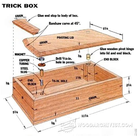 woodworking plans for boxes 1444 trick box plans woodarchivist