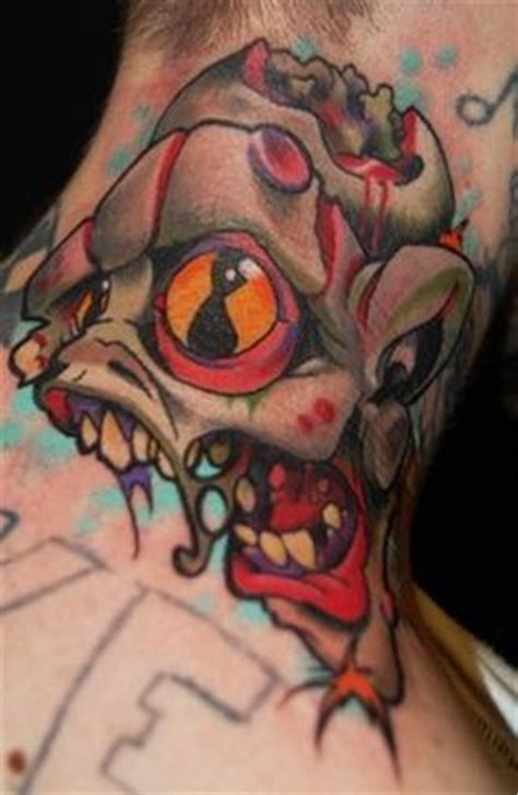 monster tattoo quebec 1000 images about neck tattoos on pinterest neck