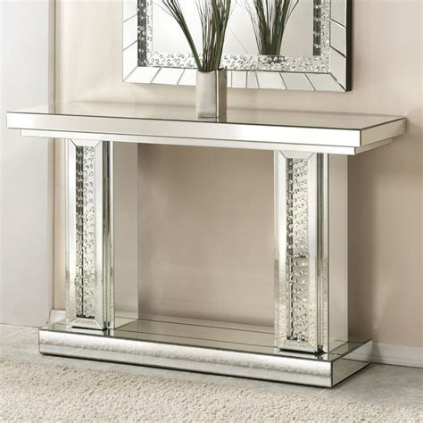 Mirror Console Table Ideas Console Table Wonderful Mirrored Sofa Table