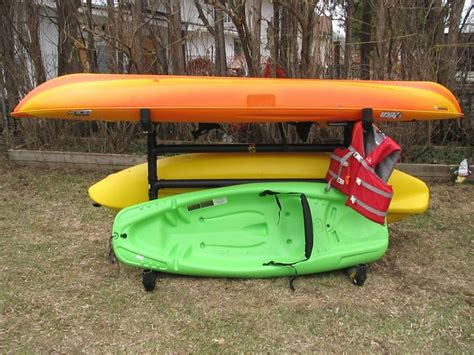 Outdoor Kayak Storage Racks by How To Make An Outdoor Kayak Storage Rack