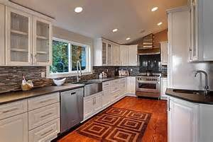white raised panel kitchen cabinets images