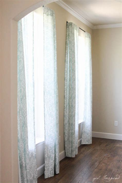 drapery tutorial simple curtains sewing tutorial girl inspired