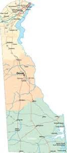 Delaware State Map by Neighborhoods Delaware