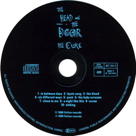 The Cure The On The Door by Car 225 Tula Cd De The Cure The On The Door Portada