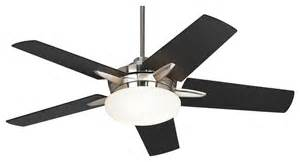 contemporary casa endeavor black cherry teak blades - Modern Black Ceiling Fan
