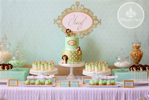 green  gold lion st birthday birthday party ideas