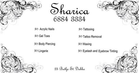 Tattoo Parlour Dubbo | sharica body piercing tattoos beauty salon tattoo