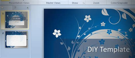 powerpoint design templates 2010 how to make a powerpoint template in ms powerpoint 2010 diy