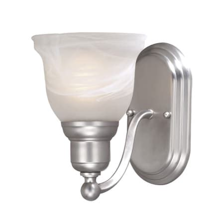 Ls Plus Bathroom Lights Vaxcel Lighting Ls Vlu101bn Brushed Nickel Lasalle 1 Light Bathroom Sconce 13 Inches Wide