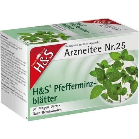 Pfefferminztee Gegen Husten 5075 by H S Pfefferminztee Filterbeutel 20 St Dr Sailers Apotheke