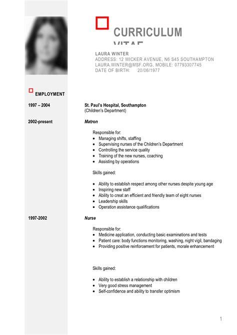 curriculum vitae maker download free example good resume template
