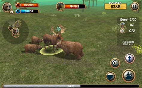 wild bear simulator 3d » android games 365 free android