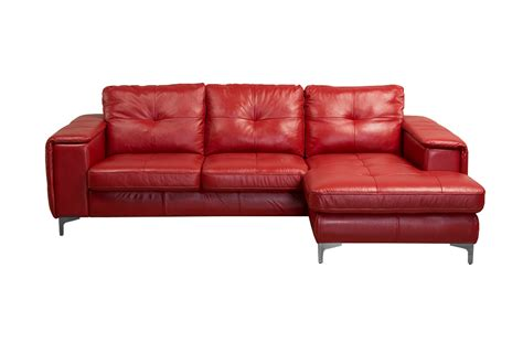 red leather chaise frankfurt sectional left arm chaise facing red leather