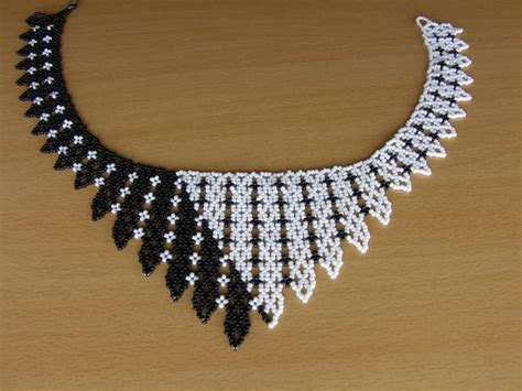black necklace pattern minta http beadsmagic com p 5433 beaded necklaces
