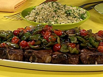 ina garten lamb chops sauteed onions and peppers recipe ina garten food network