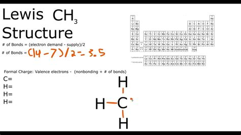 CH3 Lewis structure - YouTube (ch3) 2s Lewis Structure