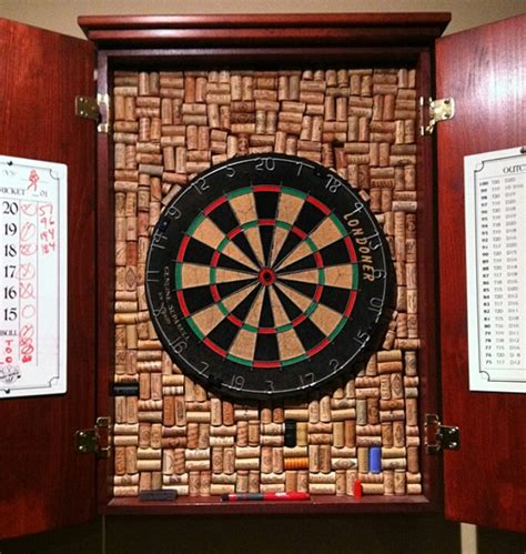 dartboard cabinet without dartboard dart board cabinet cork and bottle crafts pinterest